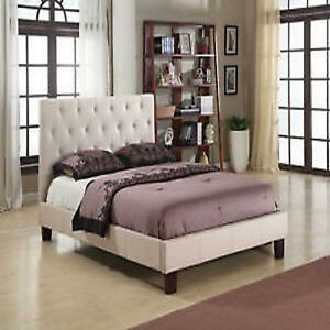 QUEEN LINEN BED FRAME ON SALE FOR ONLY $385.00
