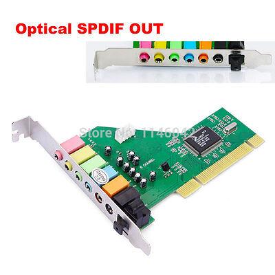 PCI 8 Channel 8CH 7.1 Sound Card Optical VIA Chipset for Windows 7,Vista,XP NEW