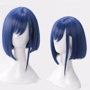 ICHIGO Japanese Anime DARLING in the FRANXX Code 015 Short Blue Hair Cosplay Wig