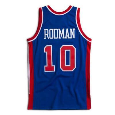 Men's Detroit Pistons Dennis Rodman Mitchell & Ness Blue 1988-89 HWC Jersey