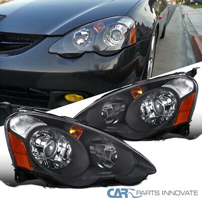 For 02-04 Acura RSX DC5 Retro Style Replacement Black Projector Headlights Lamps