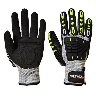 Portwest Anti Impact Cut Resistant Ansi A4 A722 Safety Work Gloves