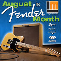 Come into Long & McQuade for Fender Month in August