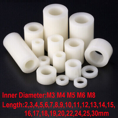 25100pcs Nylon Non-thread Standoff Spacer Plastic Washer Screw M3 M4 M5 M6 M8