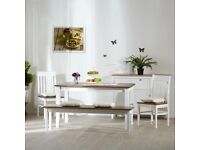 Eragny Dinning Table & Bench (NO CHAIRS) selling at £200 this is £469.99 to buy with 2 x chairs