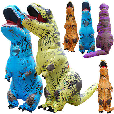 T-REX Inflatable Dinosaur Adult Kids Costume Funny Cosplay Blow Up Suit Home