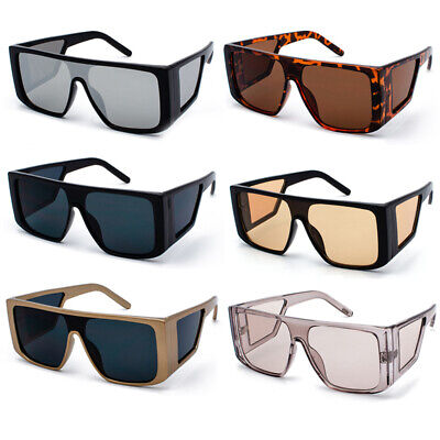 One Piece Side Shield Sunglasses Cover Wrap Around Aviator Large Driving (Wrap Around Shades Glasses)