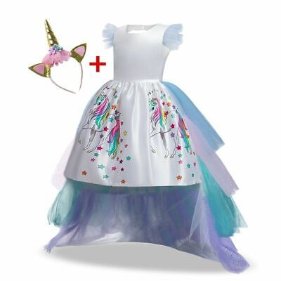 Einhorn Muster Tutu Regenbogen Prinzessin Geburtstag Kleid für Mädchen Adult Set