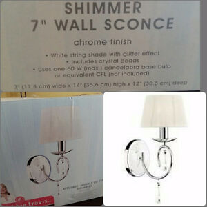 """""""Shimmer """" 7"""" wall sconce"""
