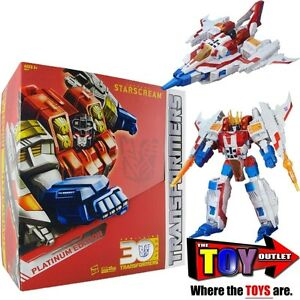 TRANSFORMERS PLATINUM EDITION SUPREME CLASS STARSCREAM YEAR OF T
