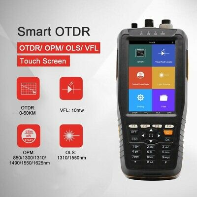 13101550nm Otdr Optical Time Domain Reflectometer Vfl Opm Ols W Touch Screen