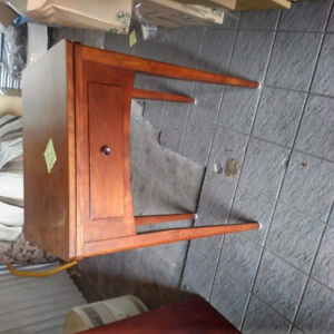 Vintage Solid Wood Sewing Table (machine has been removed)