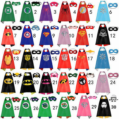 (1 cape+1 mask) Cape for kid birthday party favors and ideas Kids Superhero Cape - Ideas For Birthdays