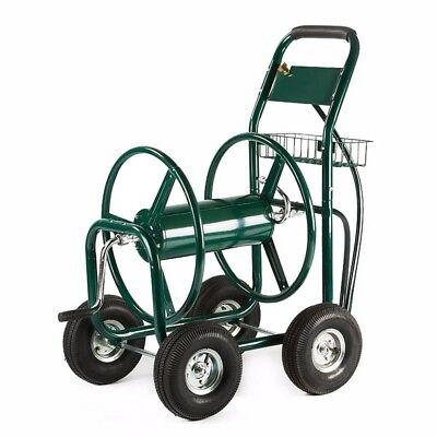 ALEKO Heavy Duty Hose Reel Cart Industrial 4 Wheel 400 Ft Green