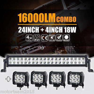 24INCH 160W LED LIGHT BAR SPOT FLOOD COMBO CREE+ 4