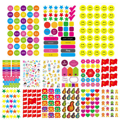 Rainbow Star Love Smiley Face Stickers for School Children Teacher Reward Crafts](Crafts For Teachers)