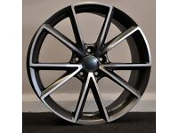 "19"" RS4C Style GMF Alloy Wheels.Suit Audi A3,Volkswagen Caddy,Golf,Jetta, Passat,Seat Leon 5x112"
