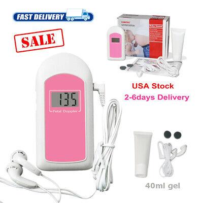 Pocket Ultrasonic Fetal Doppler Baby Heart Beat Monitor Gelearphone Fda Us