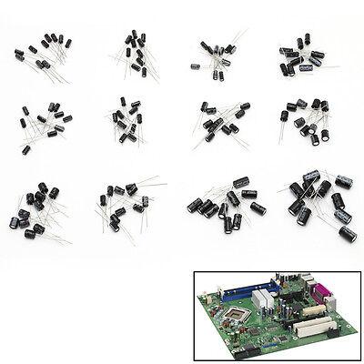 120pcs 12 Values 1uf-470uf Assorted Electrolytic Capacitor Assortment Kit Radial
