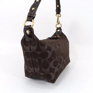 Coach Brown Metallic Signature Logo Studded Handbag Small 42099 London Ontario image 2