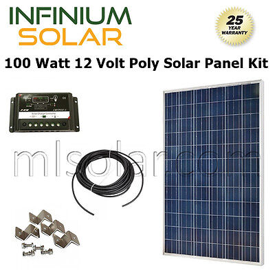 SOLAR KIT 100Watt 100 W 100W 12V Battery Charger Solar Panel PV OFF GRID RV BOAT