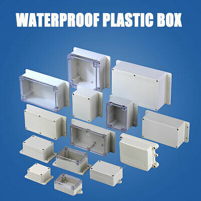 Waterproof Plastic Electronics Project Box Enclosure Hobby Case Cover Screw New