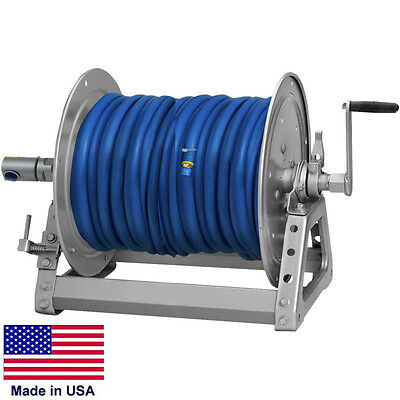 Pressure Washer Sprayer Manual Hose Reel - 300 Ft 38 Or 200 Ft 12 Id Hose