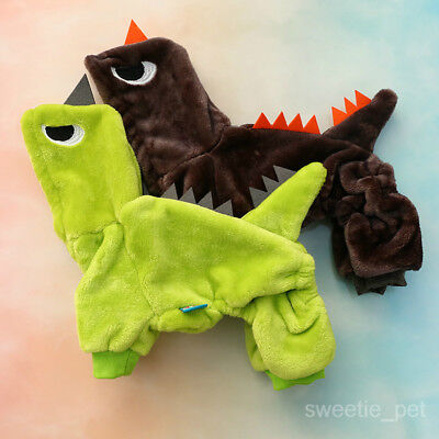 Dinosaur Costume Pet Dog Clothes Halloween Winter Chihuahua Jumpsuit Jacket - Dinosaur Dog Costume