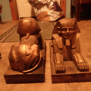 Egyptian design bookends