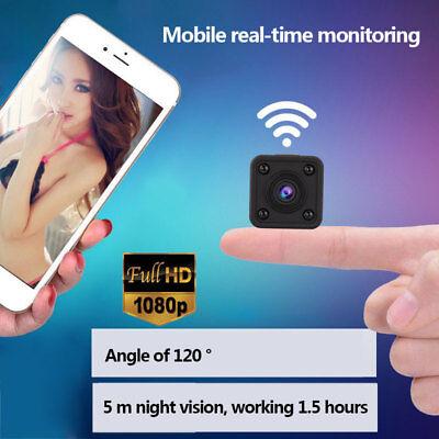 Q9 WIFI Wireless Mini Spy Camera HD Hidden Pinhole Camcorder 120° Night Vision