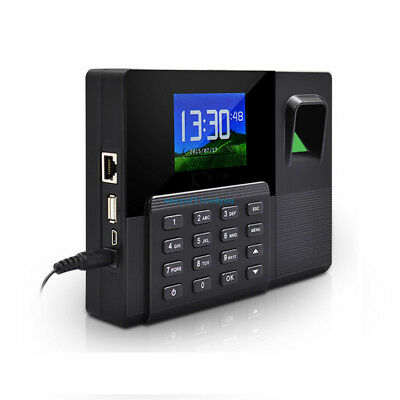Color Screen Network Fingerprint Time Clock Employee Payroll Recorder Punch