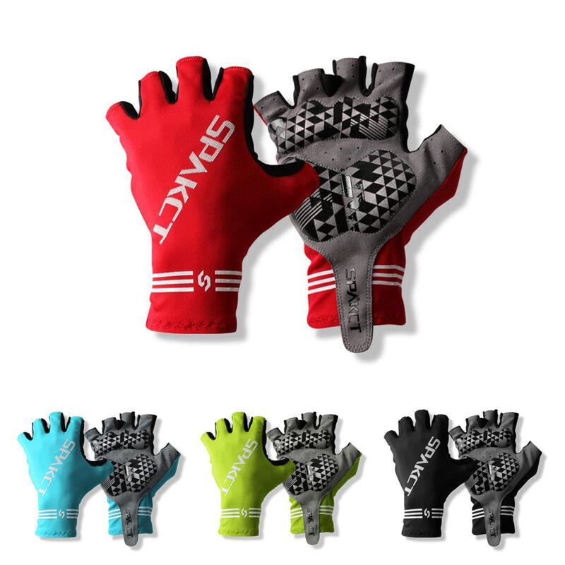 SPAKCT Cycling Bike Short Fingerless Gloves Summer Half Finger Gloves Black