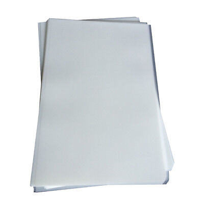 20 Sheets Screen Printing Hot Cold Peel Plastisol Paper Heat Transfer Film