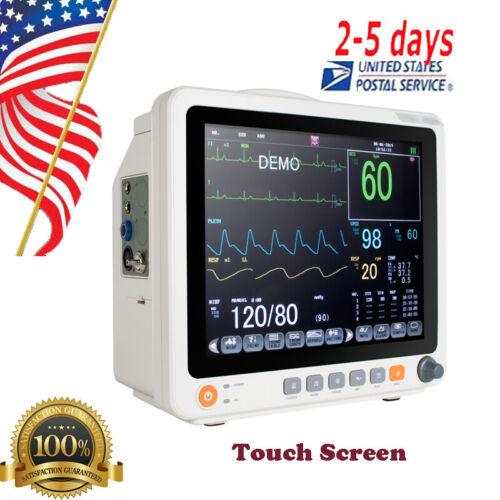 Touch Screen Vital sign Patient Monitor-ECG NIBP TEMP PR RESP SPO2 BloodPressure