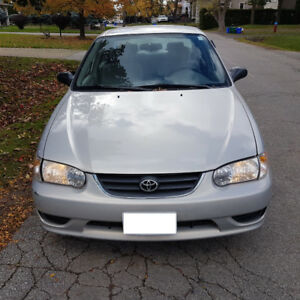 2001 toyota corolla CE with CERTIFY&EMISSION .185000KM.