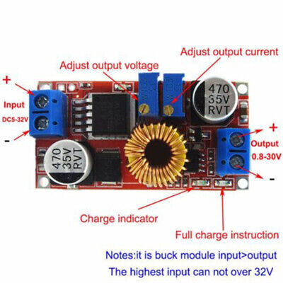 5pcs Constant Current And Voltage Dc-dc 5a Led Driver Battery Charging Module