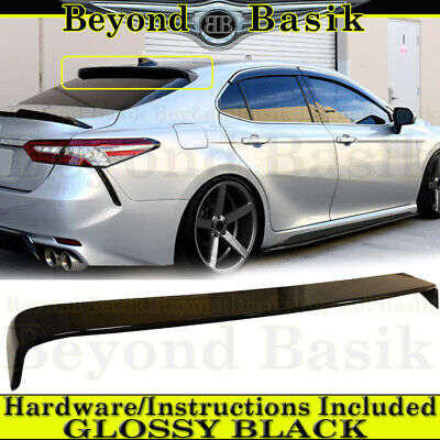For 2018 2019 2020 Toyota Camry GLOSS BLACK JDM Roof Style Window Spoiler Wing