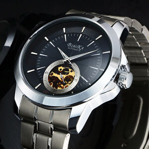 Skeleton Dial Automatic Mechanical Watch - Actual price $98.09