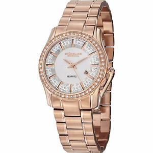 STUHRLING Ladies Swarovski Crystal Studded Calliope Watch