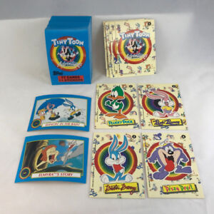 TINY TOON ADVENTURES Topps 91 Complete 77 Card Set w 11 Sticker