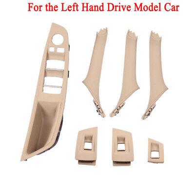 Bmw Interior Panels - 7Pcs LHD Interior Door Handle Window Lift Switch Button Frame Panel BMW F10 F18