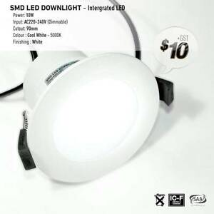 LED Downlights - Cool White - (SMD) 10W Power = $11