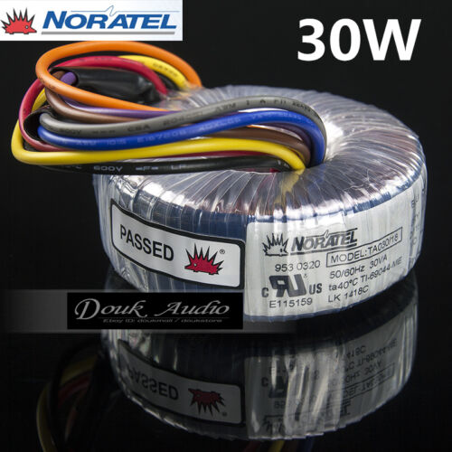 Noratel 30va Power Toroidal Transformer Dual 15v 18v For