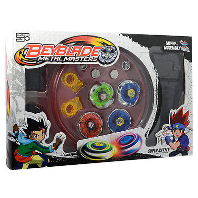 Kreisel Beyblade Fusion 4D Metal Master Stadium Launcher Set Kinder Spielzeug