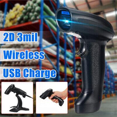 Portable 2.4g 2d Bluetooth Handheld Barcode Bar Code Scanner Reader Gunbracket