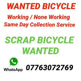 Scrap Bicycle Wanted