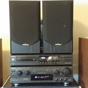 Technics Receiver CD player Sound Dynamics Speakers Stereo
