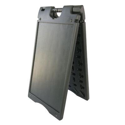 18x33 Dual-side Sidewalk Door Sign Board A-frame Plastic Films Windproof Black
