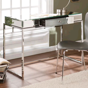 Mirrored Alvis 1 Drawer Writing Desk by Willa Arlo Interiors