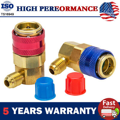 AC Manifold Gauge R134a Manifold Gauge Hose Conversion Kit Quick Adapter Fitting